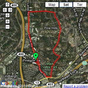 Truffles' Atlanta Pet Parade training route